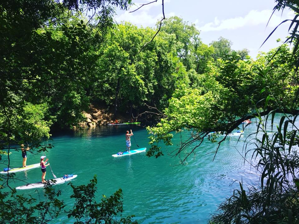 Paddleboarders in Austin, Texas