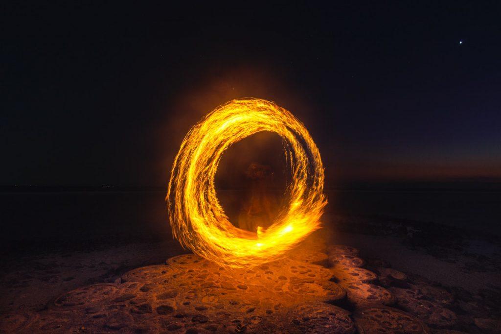 Fire Dancing on Little Beach in Maui
