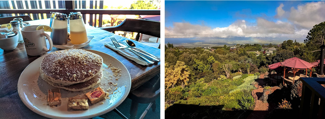 Breakfast with a view at Kula Lodge Restaurant in Maui