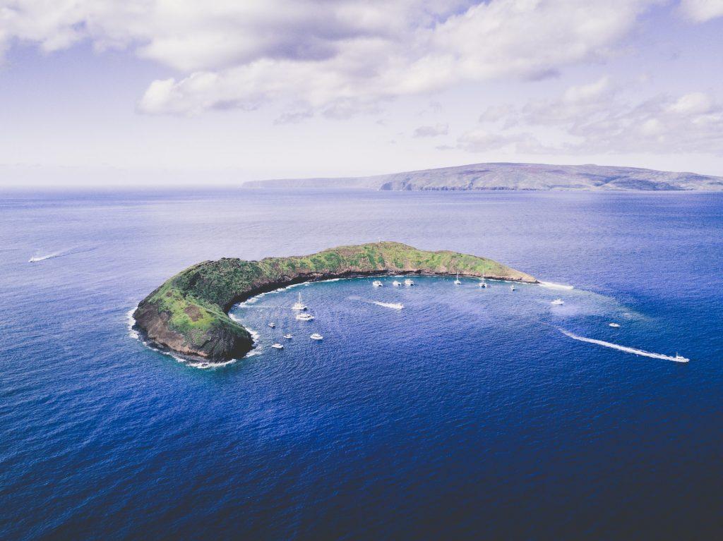 Molokini Crater off the island of Maui