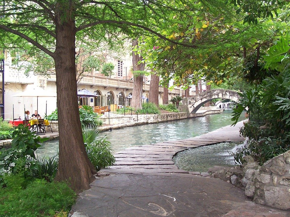The San Antonio Riverwalk, in Texas