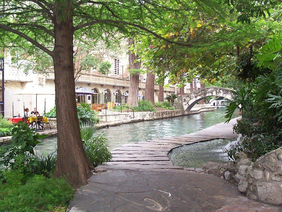 The San Antonio Riverwalk, in Texas