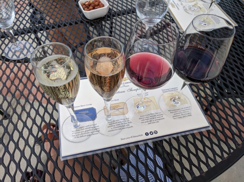 Wine tasting at Domaine Carneros in Napa