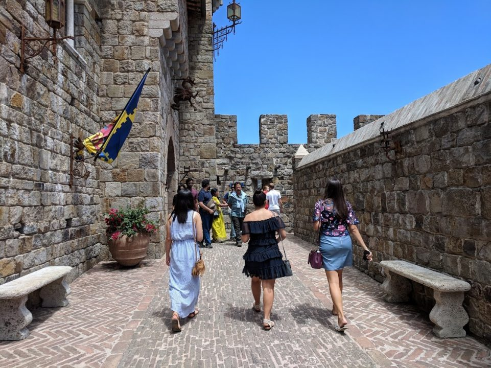Inside the walls of Castello di Amorosa
