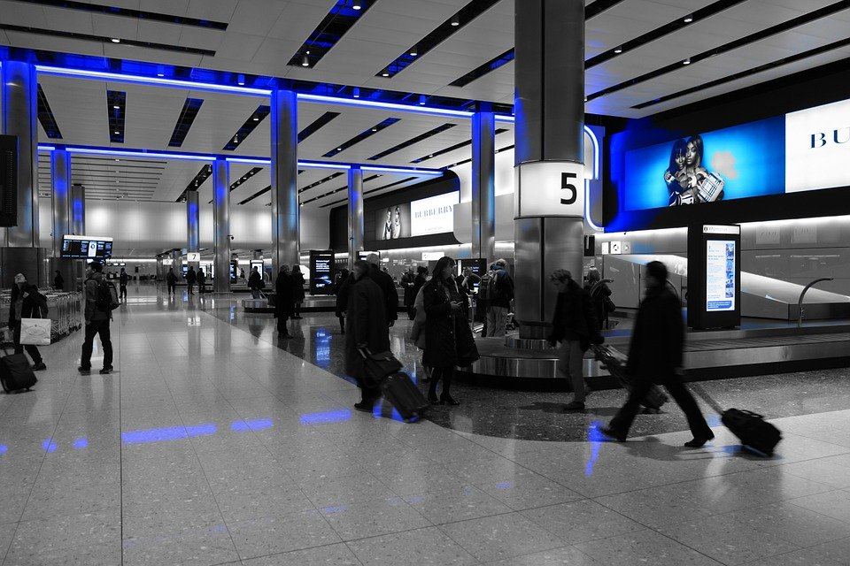 Baggage Carousel at Heathrow Airport