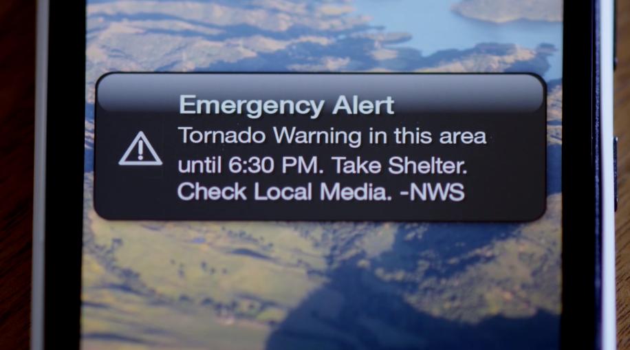 Emergency Alert for Tornado