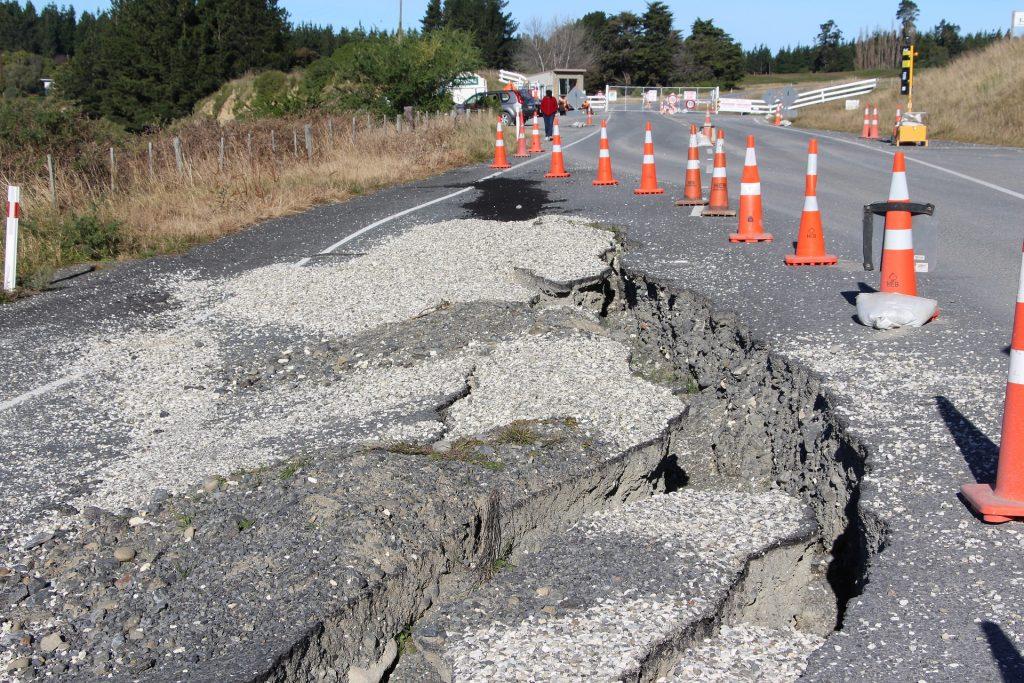cracks in asphalt of a road