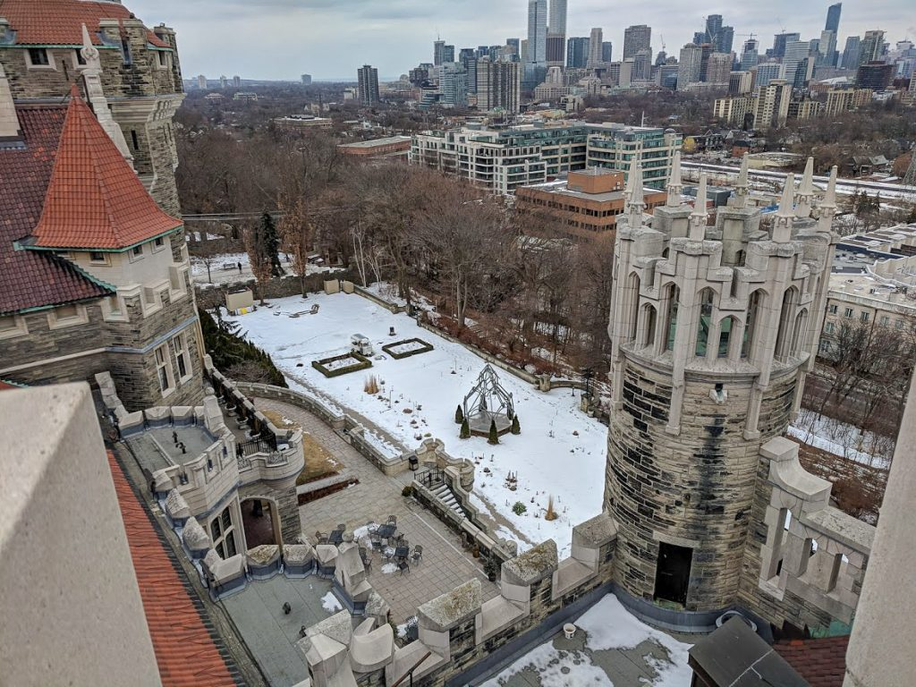View from Casa Loma Castle Tower over Toronto