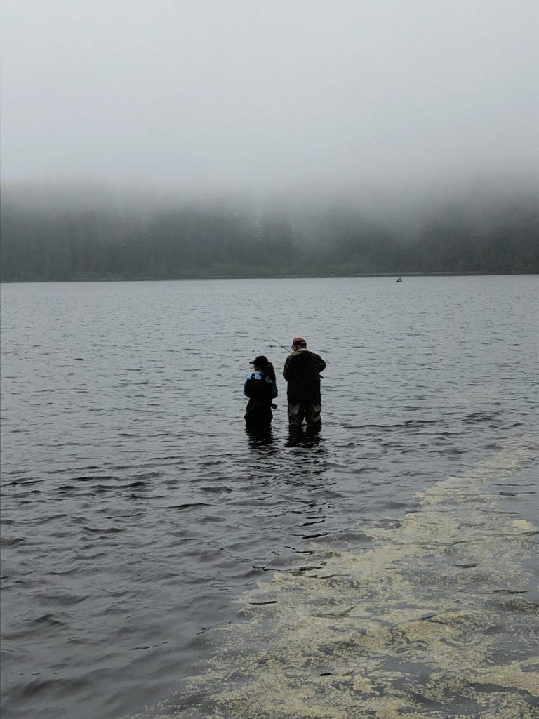 Fishing in Marion Lake in Oregon