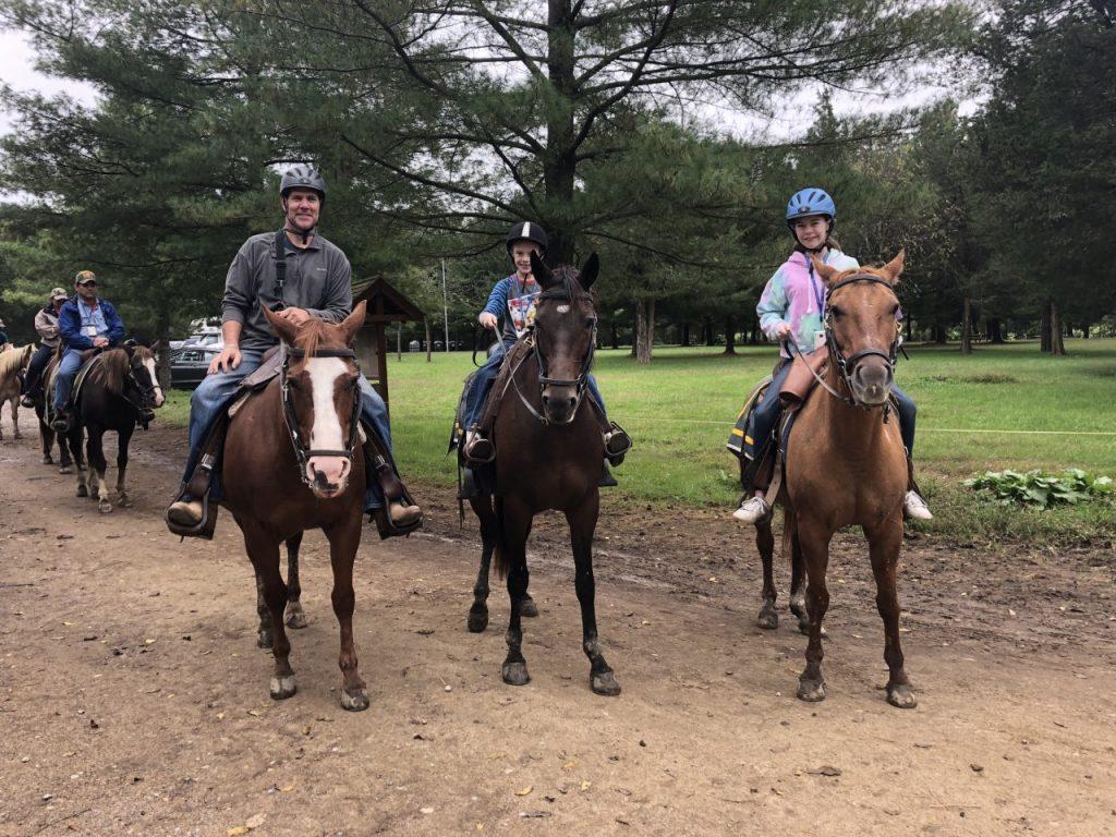 Horse riding at Gettysburg in Pennsylvania