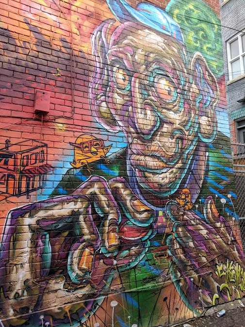 Graffiti Art in Toronto's Graffiti Alley