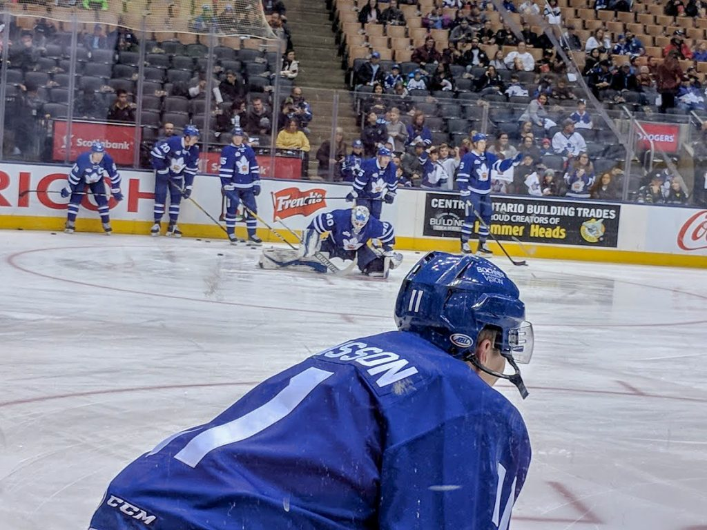 Ice hockey players in Toronto