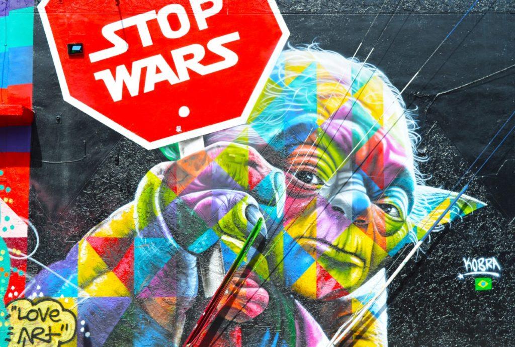 Wynward Walls Miami Florida Yoda mural