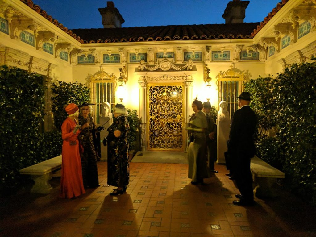 Hearst Castle's Casa Del Mar with docents dressed in 1930s clothing