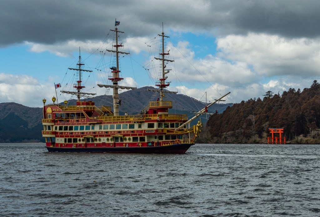 A ship in Hakone, Japan