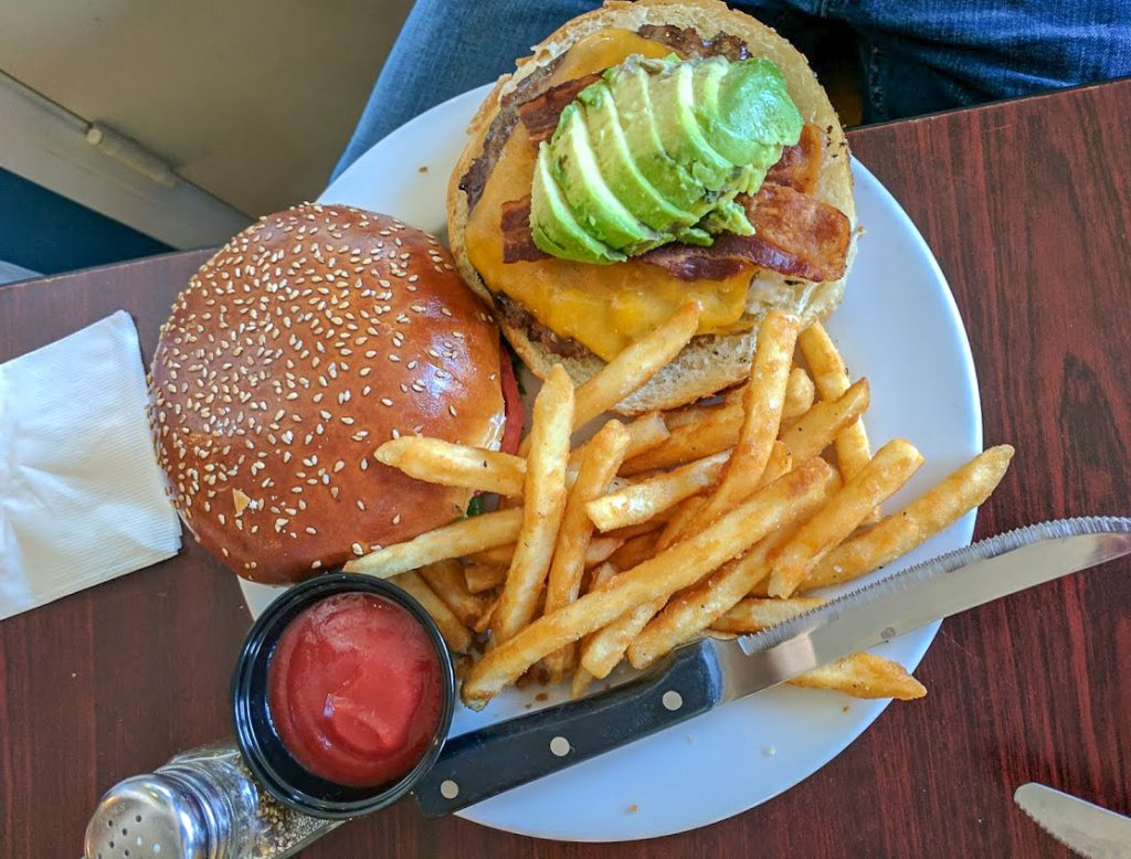 ABC burger at Cambria Pub and Steakhouse
