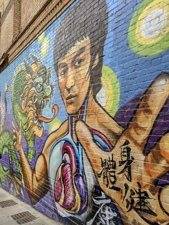 Bruce Lee Mural in San Francisco's Chinatown