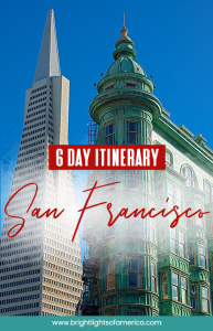 San Francisco itinerary | 6 days in San Francisco | Things to do in San Francisco | #visitSanFrancisco