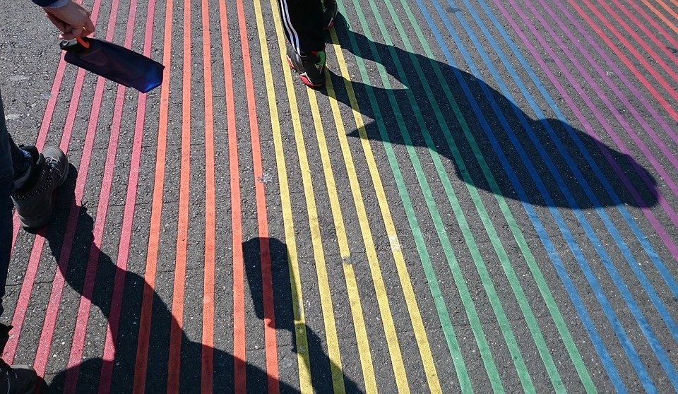 Castro District rainbow crosswalk