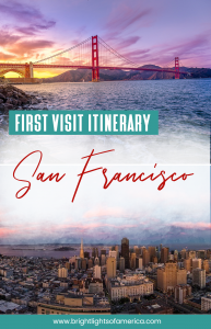 Your 6 day #itinerary for a first time visit to #SanFrancisco