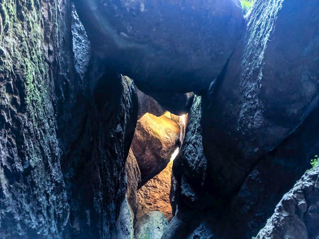 Inside Bear Gulch Cave at Pinnacles National Park