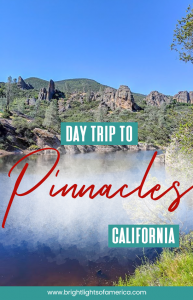 Take a day trip to Pinnacles National Park from San Francisco to experience eerie caves, beautiful rock formations and a hiking experience you won't soon forget. #PinnaclesNationalPark #Pinnacles