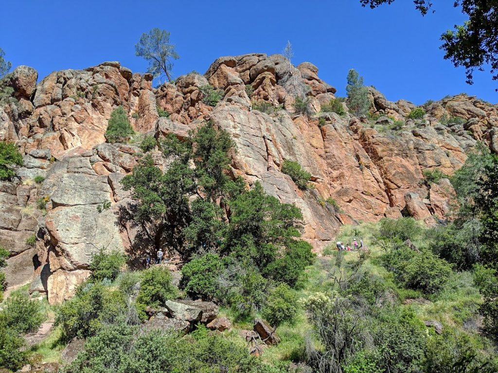 Rock climbers at Pinnacles National Park