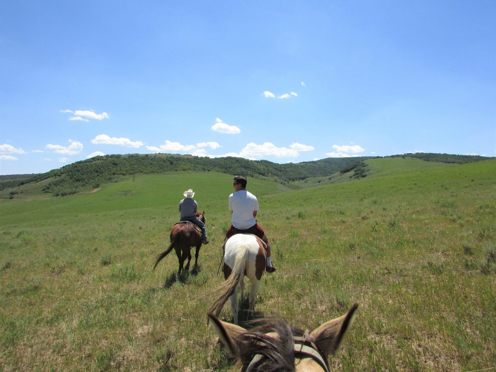 Saddleback Ranch horse riding in Steamboat Springs