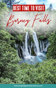 The best time to visit #BurneyFalls in Northern California. #waterfalls #nature #stateparks #California