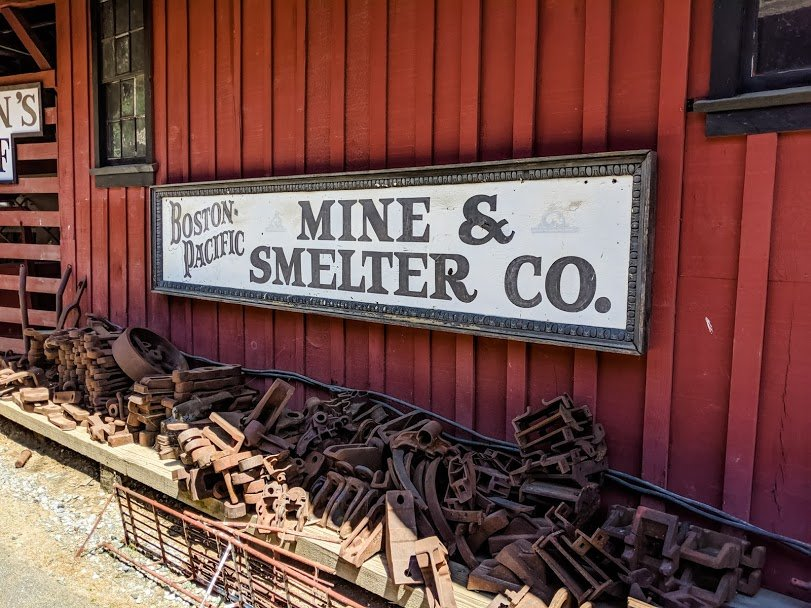 Sign for Boston Pacific Mine & Smelter Co.