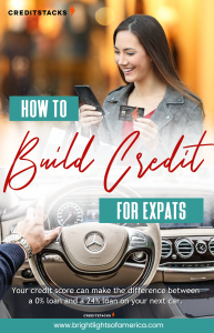 Quickest way to build credit score in the US for Expats. #credit #creditcard #creditscore #expats #relocation How to build credit in the US.