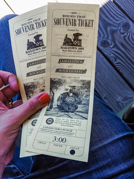 Jamestown Railtown steam train tickets