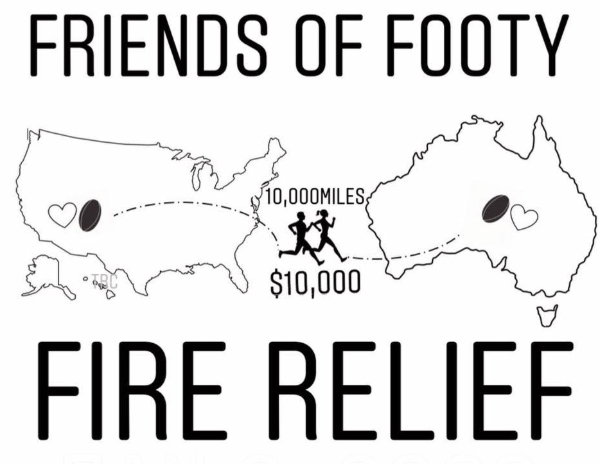 Friends of Footy Fire Relief logo