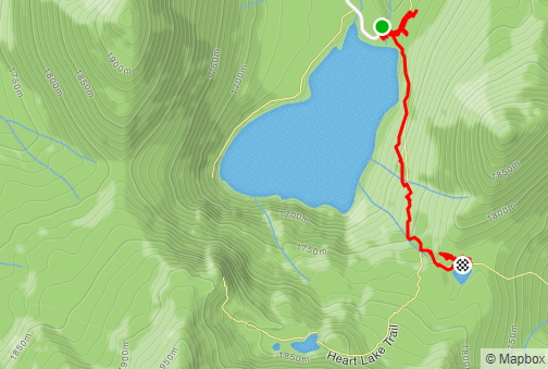 Castle Lake Trail map