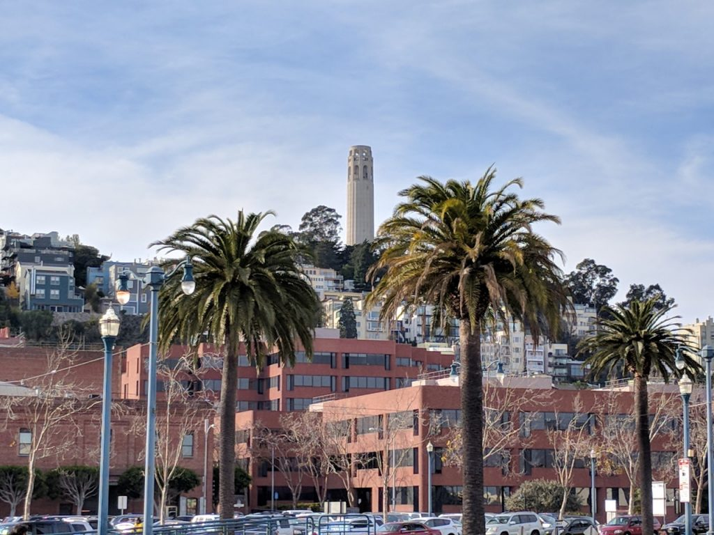 Coit Tower in North Beach, San Francisco