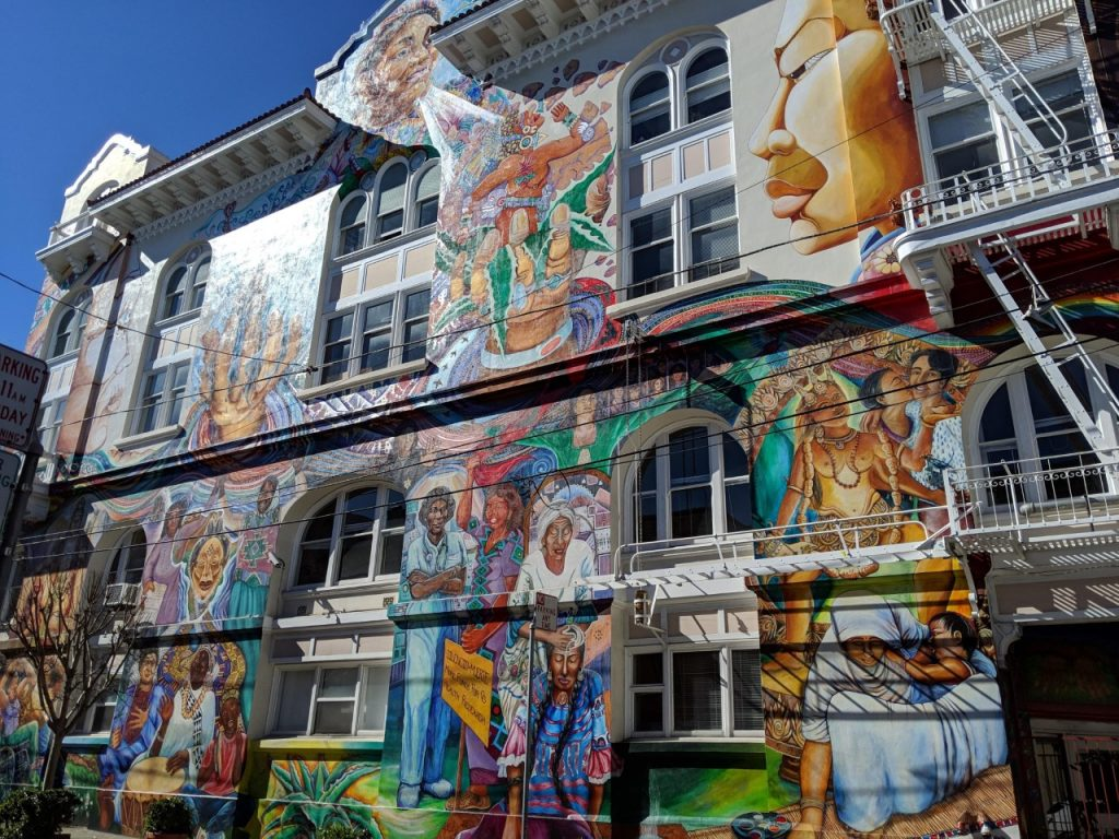 Murals on the Women's Building in San Francisco's Mission District