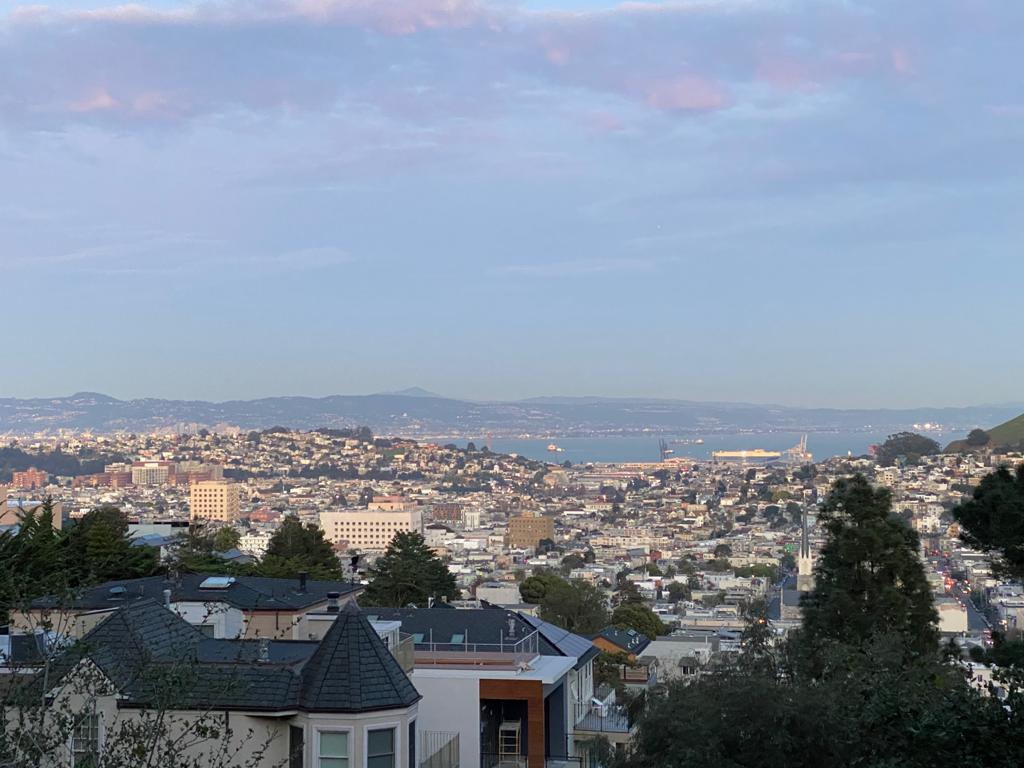 The view of San Francisco from Noe Valley