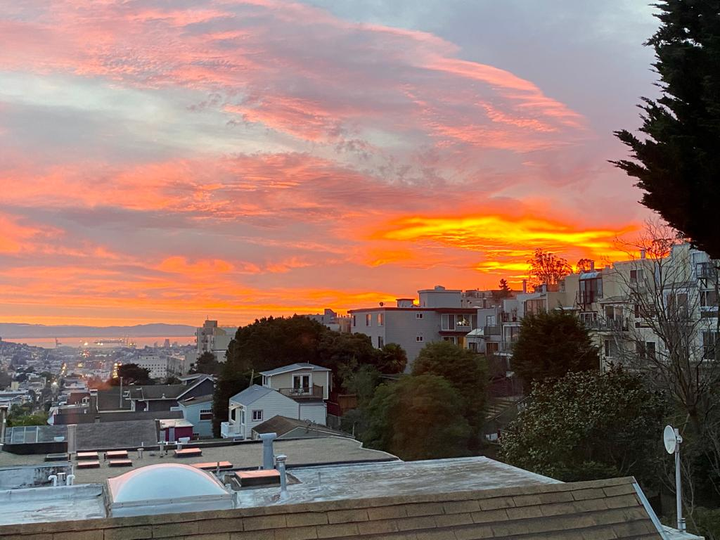 Sunset over Noe Valley, San Francisco