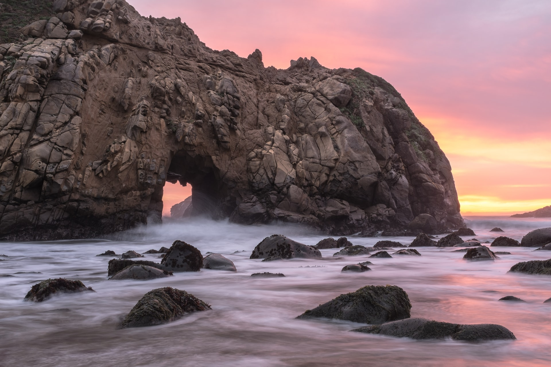 Best Beaches in California. Keyhole Rock, Big Sur