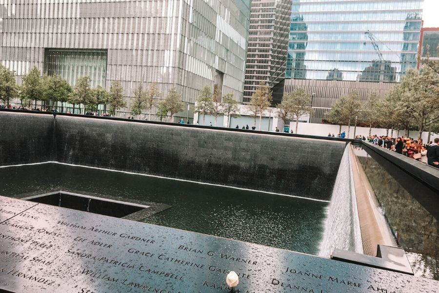 The 9/11 World Trade Center Memorial in New York
