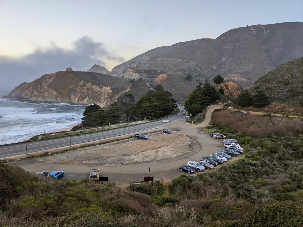 Gray Whale Cove State Beach Parking Lot