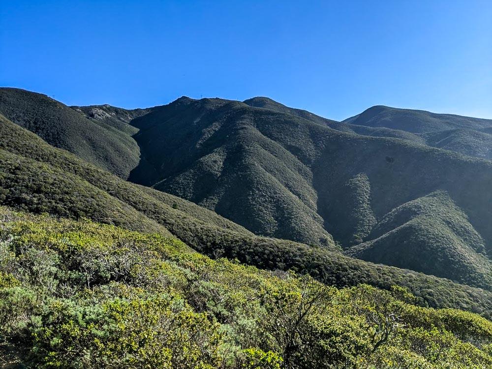 Green hillsides on Montara Mountain Hike
