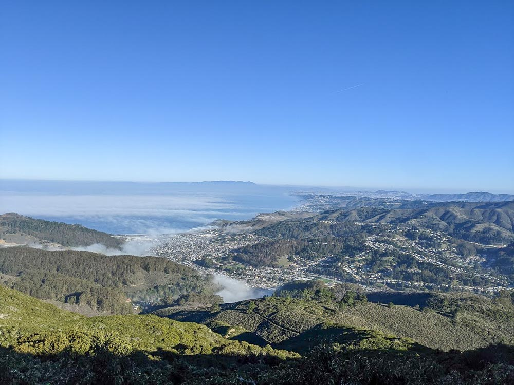 View of Bay Area from Montara Mountain, Pacifica