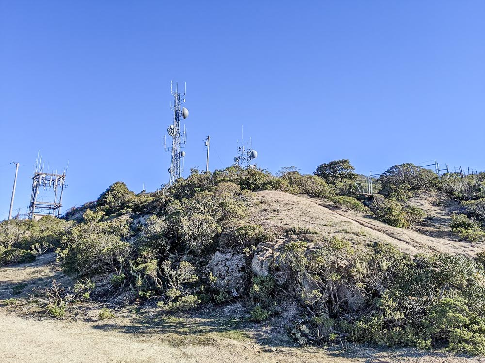 Radio tower and weather station on Montara Mountain
