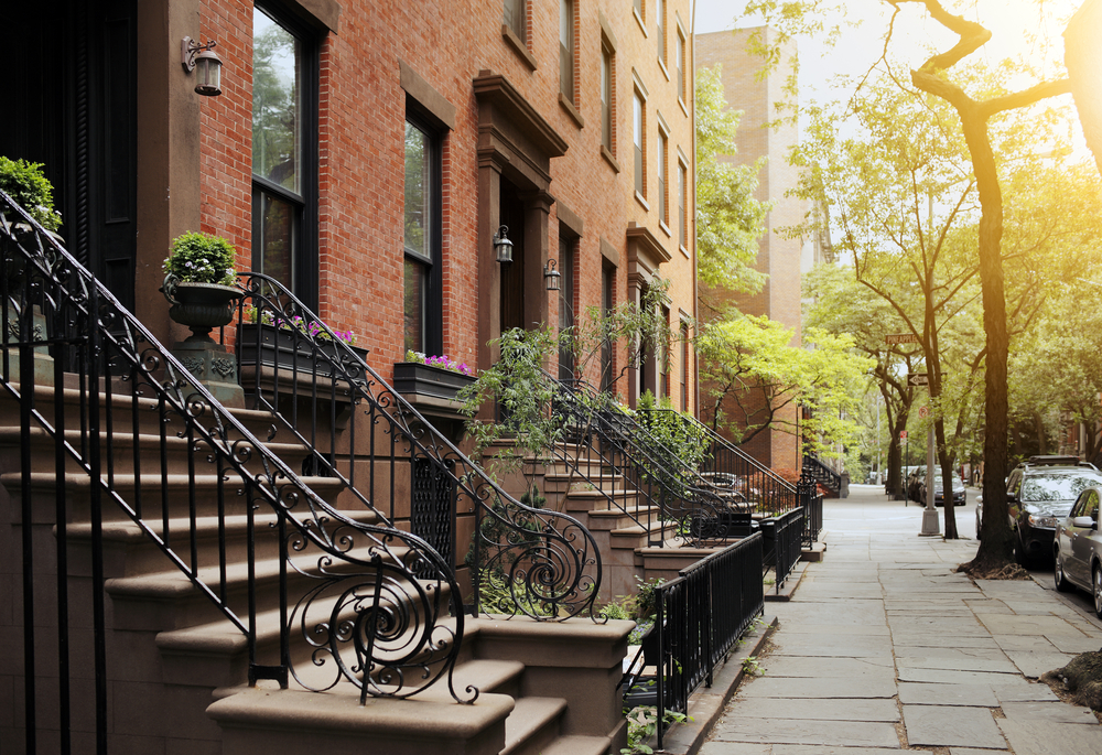 Brooklyn Heights Brownstone Buildings