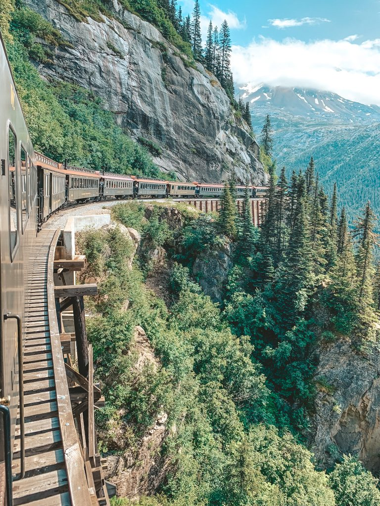 One of the most beautiful places in America is Skagway, Alaska